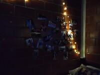 Mijn fotomuur at night!