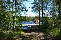 Mooi bruggetje naar de dam toe