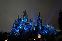 Lichtshow op het kasteel
