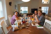 Laatste ontbijt in ons gehuurde huis