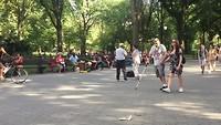 Één van de vele muziekdingen in Central Park