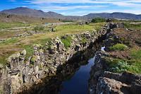 Duidelijk zichtbare breuklijn IJsland