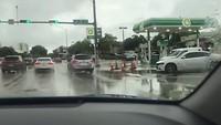 Veel water in Miami!
