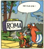 Aankomst in Rome Asterix en Obelix
