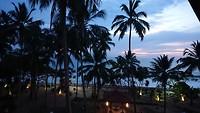 Uitzicht aan einde van de dag vanuit onze penthouse suite