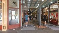 Ingang luxe winkelstraat, Adelaide Arcade