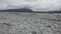 Rivierbedding Waiho River en Franz Joseph Glacier