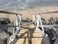 Trap naar zee