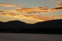 Lake Pukaki bij zonsondergang