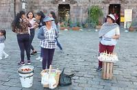 straat verkopers Quito