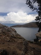 Uitzicht vanaf Isla del Sol