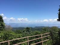 Uitzicht over het Brokopondo stuwmeer