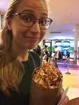 Met de fameuze karamelpopcorn