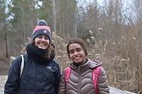 Met Cristina tijdens de hike