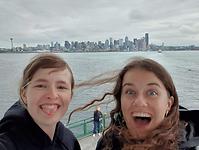 Met Rose op de ferry