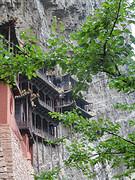 Blik op het hangende klooster