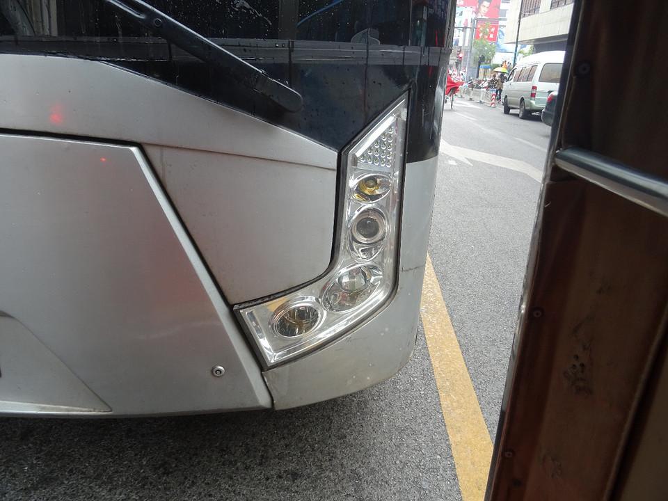 Bus op schoot