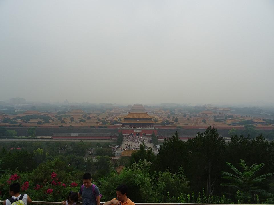 Smoggezicht op de Verboden Stad