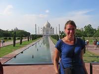 Bij de Taj Mahal