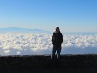 Boven de wolken! Op iets meer dan 3000 meter hoogte.