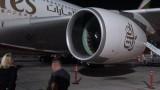 1 van de motoren Airbus A380