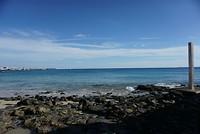 Mooie diepblauwe zee