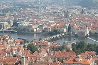 View over Praag, vanaf de namaak eiffeltoren