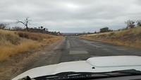 Potholes op de weg naar Francistown