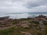 Hoge golven in Hermanus