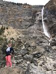 Yoho national park. Takakkaw watervallen