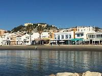 Malaga; zicht op het hotel