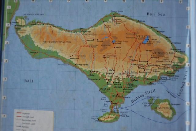 De kaart van bali en in het zuidoosten een eilandengroep waarvan de kaart van bali en in het zuidoosten een eilandengroep waarvan nusa lembongan er een van altavistaventures Gallery