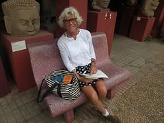 Vanuit het Nationaal Museum, Phnom Penh, groet ik jullie van harte.