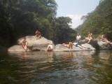 Relaxen in de rivier