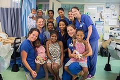 Patiënten, zusters en dagwerkers... Te gezellig :)