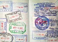 Grenzen en paspoortstempels...