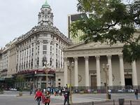 Op plaza Mayor in Buenos Aires