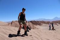 Sandboarden in San Pedro de Atacama
