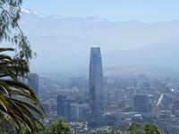 Uitzicht Santiago vanaf Cerro San Cristóbal
