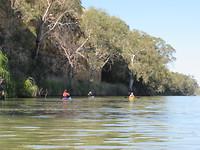 Kayakken met familie in Adelaide