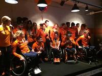 Team NL bij eindfeest