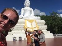 Na veel trappen bij Boeddha!
