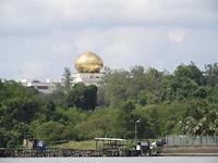 Zicht op het Sultan paleis