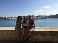 In Valletta met papa en mama