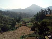 Landschap met zicht op vulkaan
