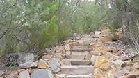 Een klein stukje van de klim op het Cape Hauy  Trail