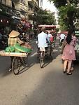 The crowdy streets of Hanoi