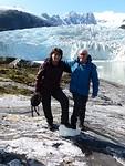 Derde excursie, vlak voor de gletsjer.
