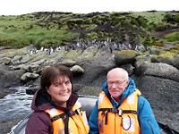 Tweede excursie, wij vóór de pinguïns!