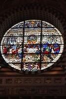 Duomo Siena, gebrandschilderd raam